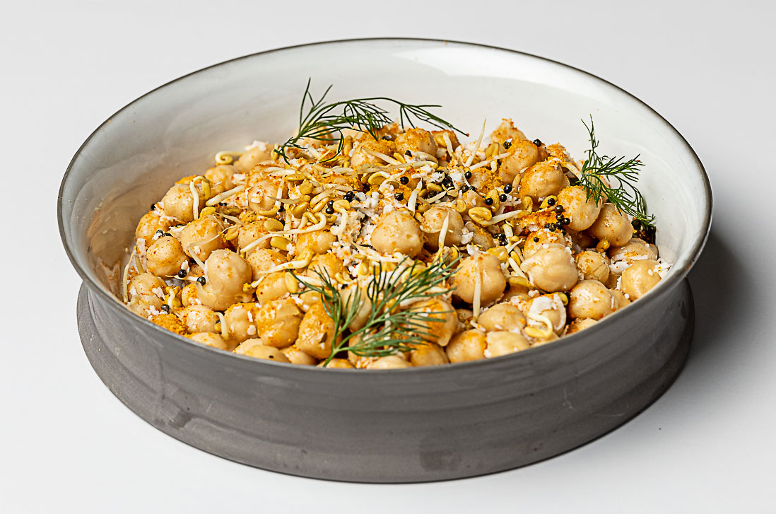 Chickpea and Sprouted Fenugreek Sundal